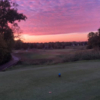 A sunset view of a tee at Walden Ponds Golf Club.