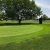 A view of a green at Burning Tree Golf Course.