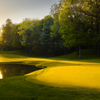 A sunny view of green #8 at Glenmoor Country Club