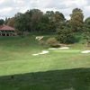 A view of green protected by bunkers at Mount Vernon Country Club