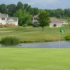 A view of a green with water coming into play at The Legends of Massillon.