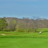 A view of a fairway at Twin Run Golf Course