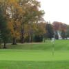 A fall view of a green at North Olmstead Golf Club