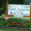 A view of the Green Ridge Golf Course sign