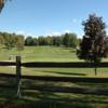 A view over a fence at Berkshire Hills Golf Course