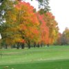 A fall view of a hole at Elyria Country Club