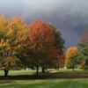 A fall day view from Walnut Run Golf Course