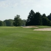 A view of green with bunkers on the right at Thorn Apple Country Club