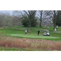A cemetery sits next to the Darby Creek Golf Course in Marysville, Ohio.