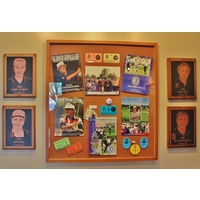 The clubhouse at The Golf Center at Kings Island celebrates the history of the Grizzly Course hosting four professional tours.