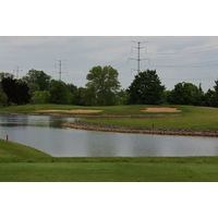 The second hole on the North nine of the Grizzly Course at The Golf Center at Kings Island looks ominous.